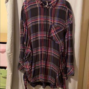 Free People flannel dress